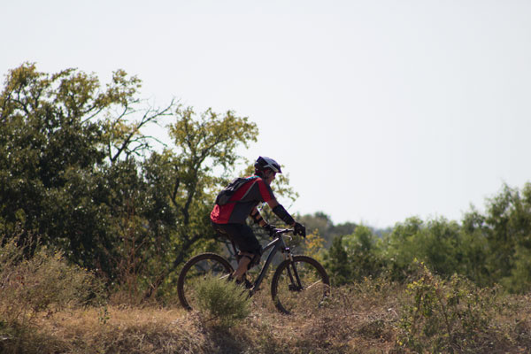 Mountain biking at Reveille Peak Ranch