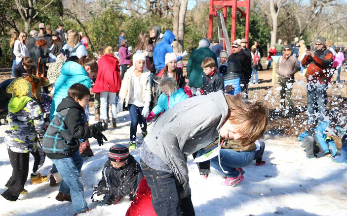 Snow Day at Hill Country Science Mill