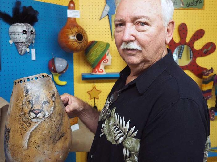 Don Sharp gourd artist