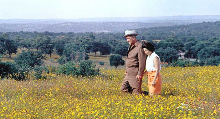 Lady Bird and Lyndon B. Johnson