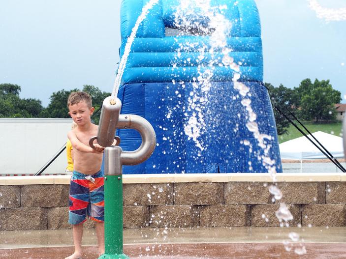 Llano splash pad