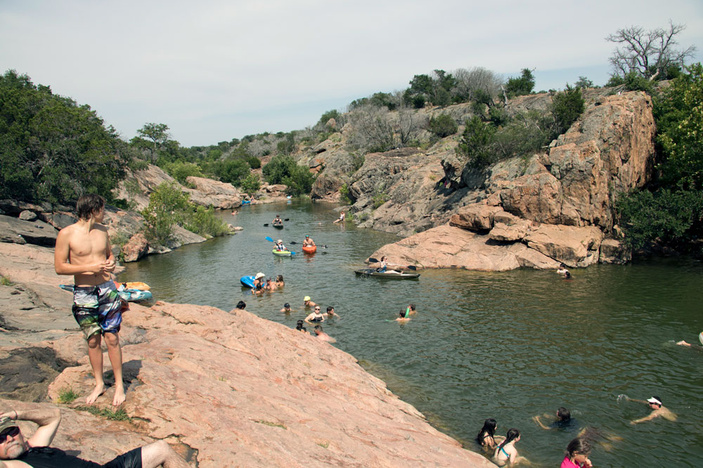 Devil's Waterhole at Inks Lake State Park