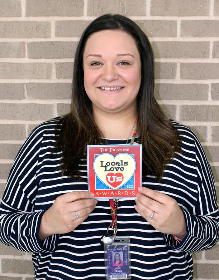 Marble Falls Middle School's Ashley Ellis