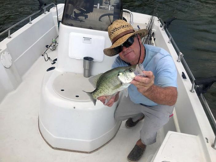 Highland Lakes fishing guide Jay 'Bird' Frasier