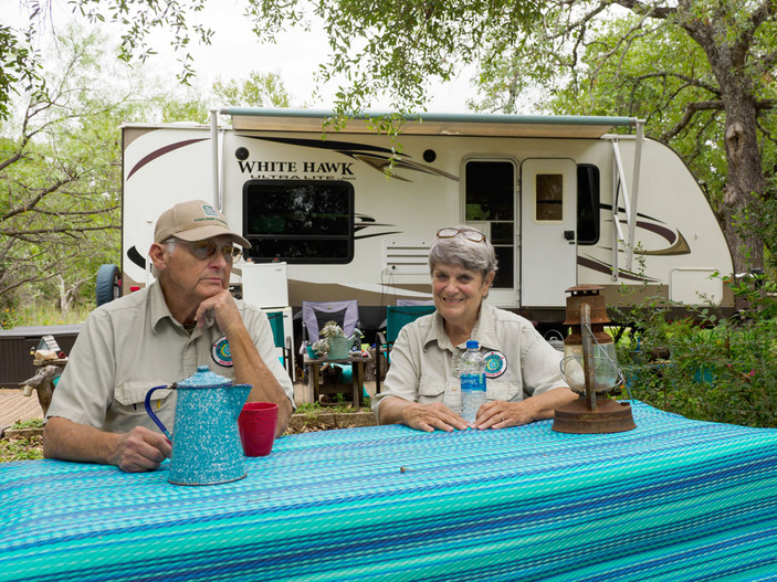 RV camping in the Highland Lakes