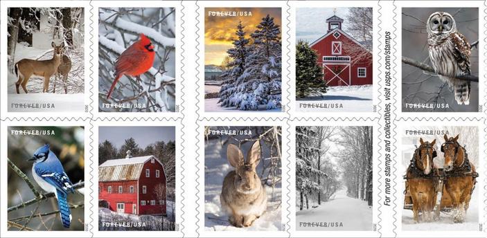 Winter Scenes stamps