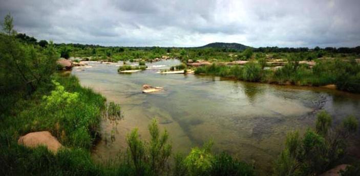 Kingsland Slab access point into Llano River