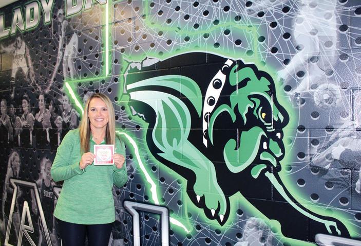 Burnet High School volleyball coach Crystal Shipley