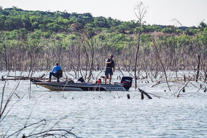 Fishing on Lake Buchanan