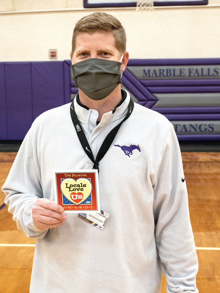 Marble Falls High School basketball coach John Berkman