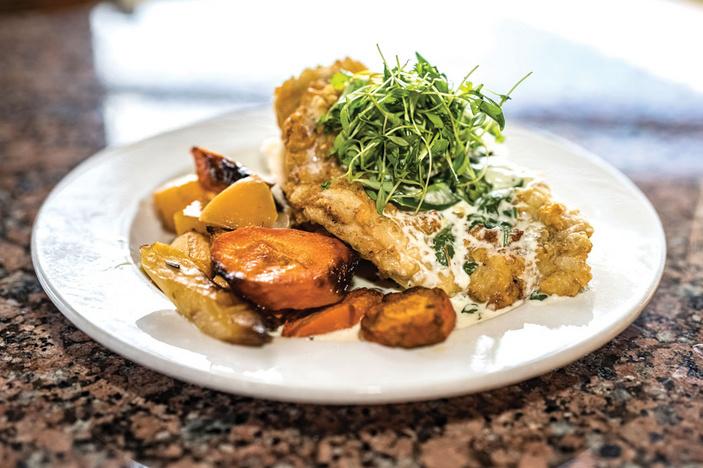 Chicken-fried boar from The Overlook Restaurant