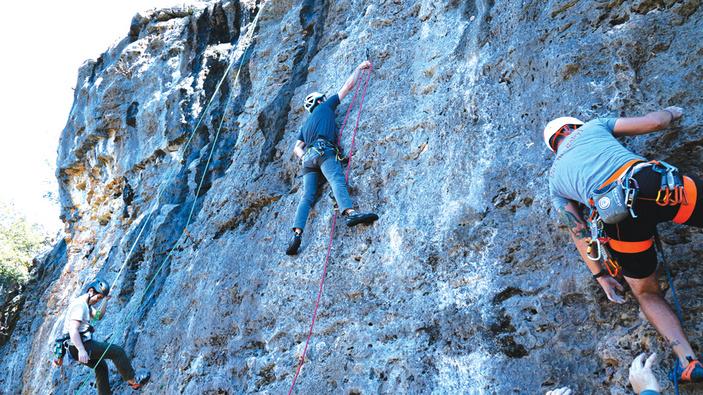 Rock climbing at Milton Reimers Ranch