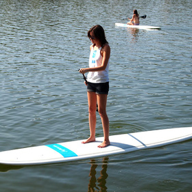 Stand-up paddle boarding on the Highland Lakes