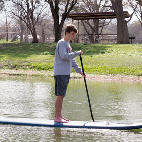Standup paddleboarding in Marble Falls