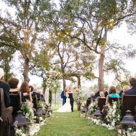 outdoor wedding at cedar skies in burnet county texas