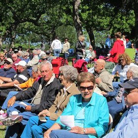 Worship in the Park in Marble Falls