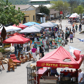 Market Day on Main in Marble Falls