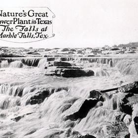 Falls on Lake Marble Falls