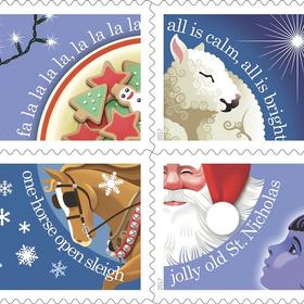 Christmas carol stamps