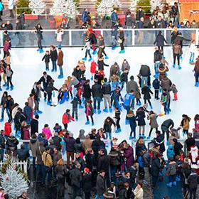 Merry Texmas ice skating rink
