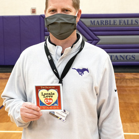 Marble Falls High School basketball coach John Berkman