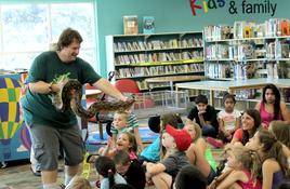 Llano Library Hosts Hissing, Slithering, Creeping Guests