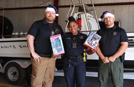 Fill the Boat! in Granite Shoals During Police Department Toy Drive