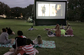 Free family films during Dive-In Movie Nite on Backbone Creek