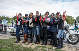 Ladies in Leather parade, rally roll into Llano