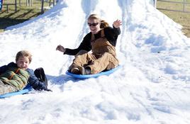 Unlimited sled rides at Llano Snow Day