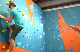 Challenge yourself on Sheer Fun's rock-climbing walls
