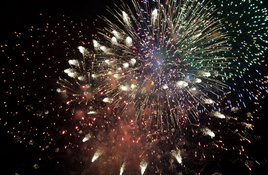 A fireworks display from the heart