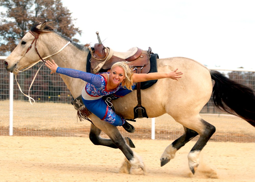 Trick Rider Ginger Duke is Back in the Saddle