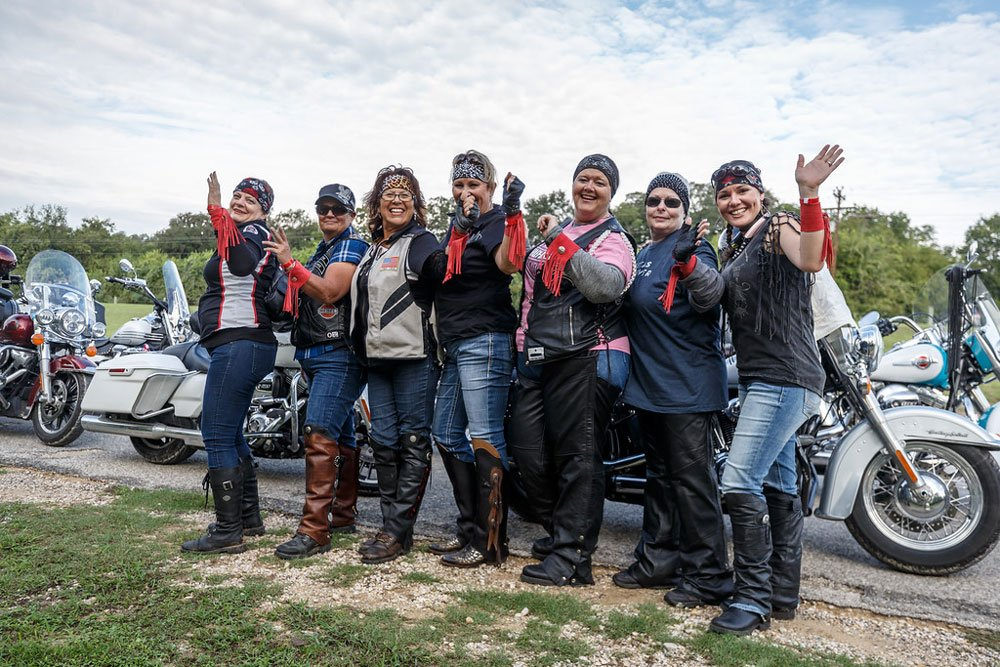 Ladies in Leather rolls into Llano