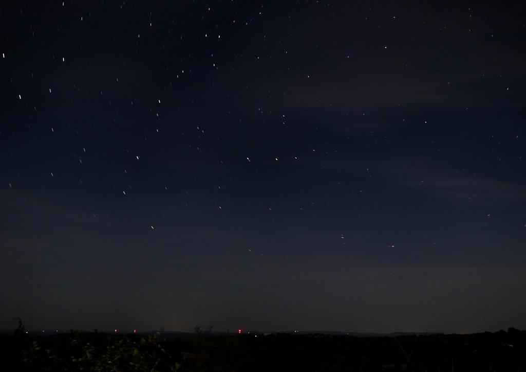 Perseids fly across the night sky
