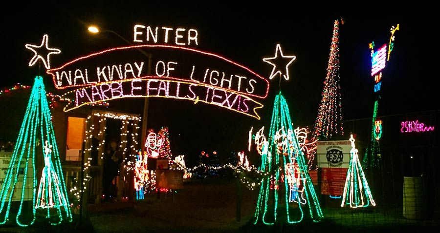 Marble Falls Walkway of Lights