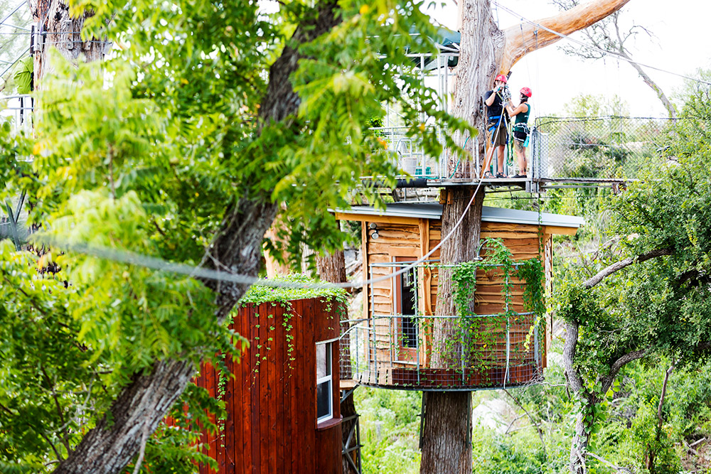 Zipline through the cypress ... & Sleep in a treehouse at Cypress Valley Canopy Tours