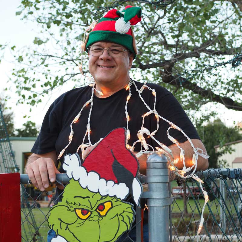 Marble Falls resident no Grinch when it comes to lights display synced to music