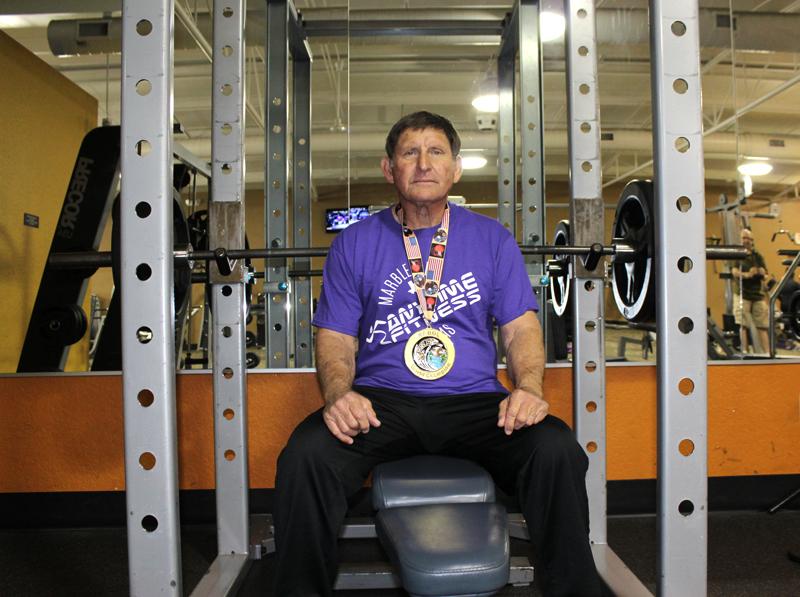 At 69 Russ Roberts Sets Bench Press State Record