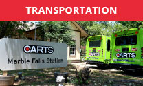 Transportation services in Marble Falls