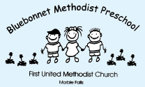 bluebonnet methodist preschool marble falls logo